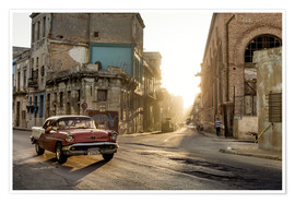 Plakat  Vintage car on the streets of Havana - Novarc