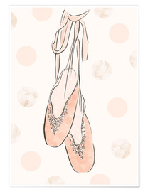 Plakat  Ballet shoes on the wall