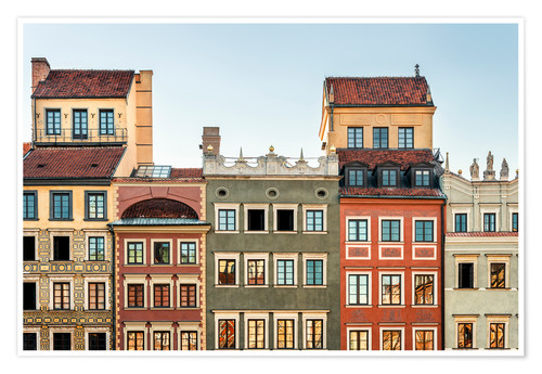 Plakat Old town of Warsaw