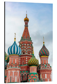 Obraz na aluminium  St. Basil's Cathedral at Red Square in Moscow - Click Alps