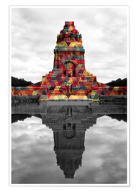 Plakat Monument to the battle of the nations Colour Pop