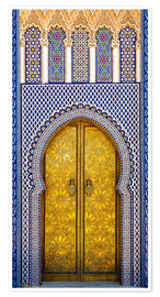 Plakat Decorated door of the royal palace
