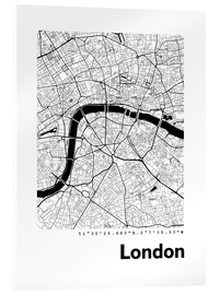 Obraz na szkle akrylowym  City map of London - 44spaces