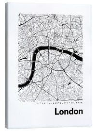 Obraz na płótnie  City map of London - 44spaces