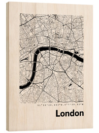 Obraz na drewnie  City map of London - 44spaces