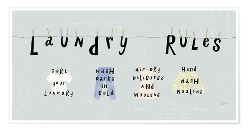 Plakat Laundry Rules I (English)