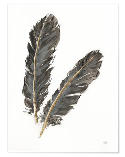 Plakat Gold Feathers IV