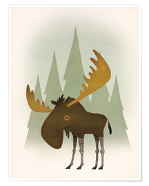 Plakat  Forest moose - Ryan Fowler