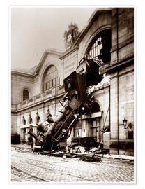 Plakat  Train accident at the Montparnasse station, Paris - John Parrot