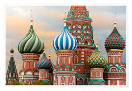 Plakat  St. Basil's Cathedral in Moscow - Miles Ertman