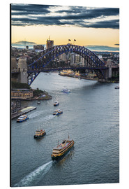 Obraz na aluminium  View over Sydney Harbor - Michael Runkel
