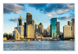 Plakat  The skyline of Sydney at sunset - Michael Runkel