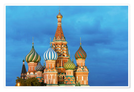 Plakat  Brilliant St. Basil's Cathedral in Moscow - Miles Ertman