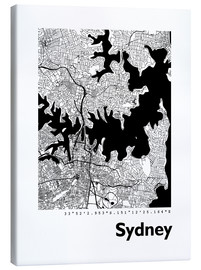 Obraz na płótnie  City map of Sydney - 44spaces