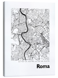 Obraz na płótnie  Map of Rome - 44spaces