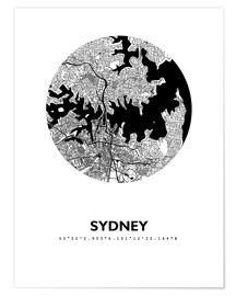 Plakat  City map of Sydney - 44spaces