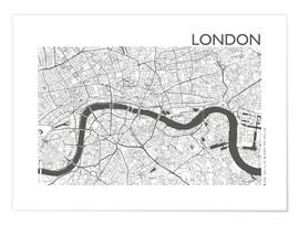 Plakat  City map of London - 44spaces