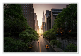 Plakat New York sunset in the streets