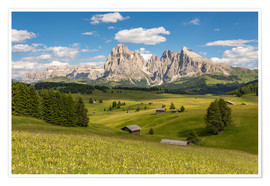 Plakat Summer in the Dolomites