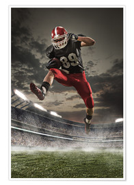 Plakat  football player in action