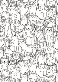 Plakat do kolorowania  Cat pattern - Kidz Collection