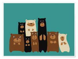 Plakat Bear friends