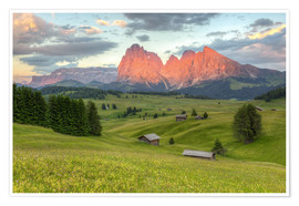 Plakat Alpenglow in the Dolomites