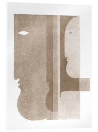 Obraz na szkle akrylowym  Two profiles to the left, one to the right - Oskar Schlemmer