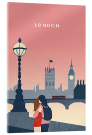 Obraz na szkle akrylowym  London Illustration - Katinka Reinke