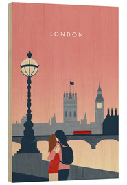 Obraz na drewnie  London Illustration - Katinka Reinke