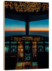Obraz na drewnie  A320 cockpit at twilight - Ulrich Beinert