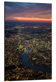 Obraz na aluminium  Birds-eye view of London - Ulrich Beinert