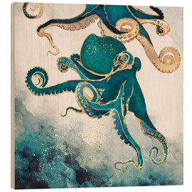 Obraz na drewnie  Octopus, underwater dream V - SpaceFrog Designs