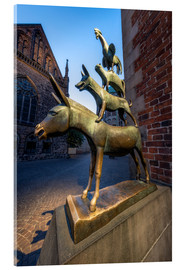 Obraz na szkle akrylowym  The statue of the Bremen Town Musicians - Jan Christopher Becke
