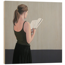 Obraz na drewnie  Girl reading - Karoline Kroiss