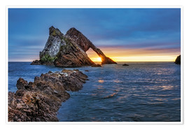 Plakat Sunrise at Bow Fiddle Rock