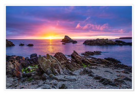 Plakat Sunrise at Cullen Bay near Portknockie