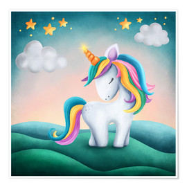 Plakat Cute unicorn