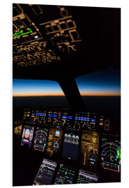 Obraz na PCV  Airbus A380 Cockpit at twilight - Ulrich Beinert