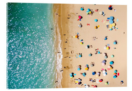 Obraz na szkle akrylowym  Aerial View Of People on Summer Holiday - Radu Bercan