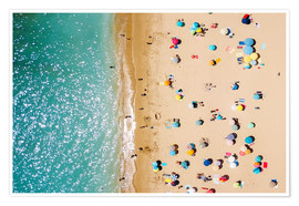 Plakat Aerial View Of People on Summer Holiday