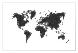 Plakat Map Of The World Sketch