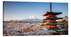 Obraz na płótnie  Pagoda and Mt. Fuji with cherry blossom, Japan - Matteo Colombo