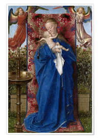 Plakat Madonna with child at the well