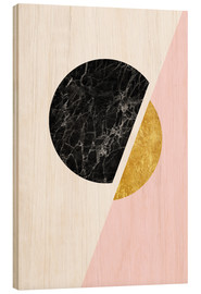 Obraz na drewnie  Scandinavian composition with marble and gold - Radu Bercan