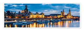 Plakat  Dresden at night - Art Couture