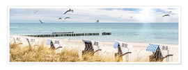 Plakat  Beach day at the Baltic Sea - Art Couture