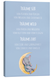 Obraz na płótnie  Träume süß, wild und Zart (German) - Kidz Collection